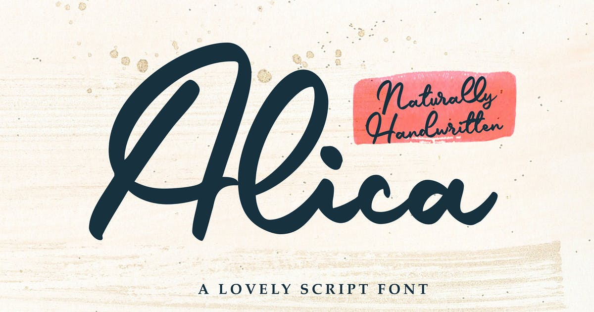 Download Alica - Script Font by graptailtype
