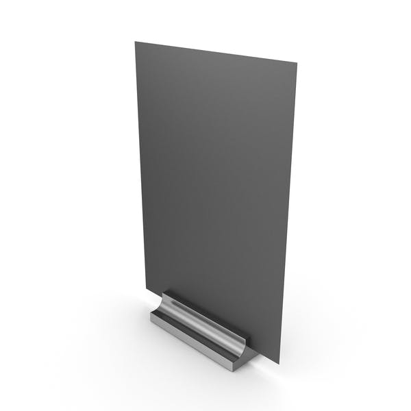 Black Desk Paper Banner with Silver Stand