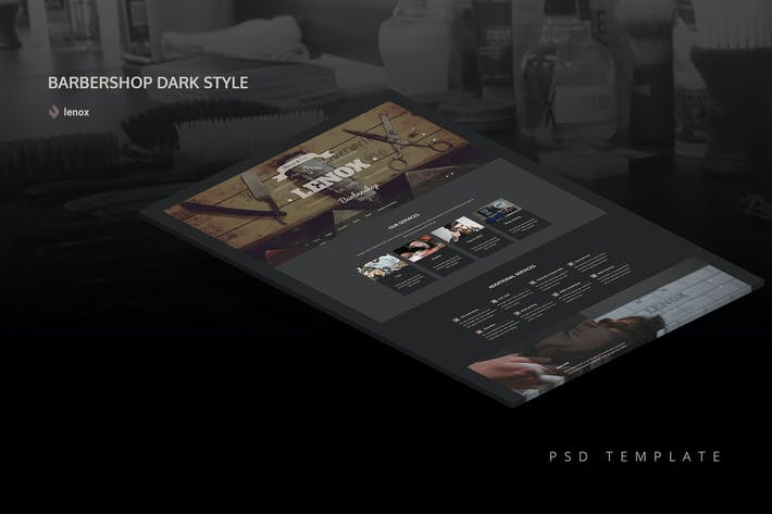 Thumbnail for Dark Barbershop PSD Template