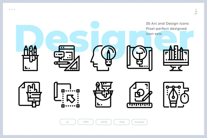 Thumbnail for 30 Kunst- und Design-Icons
