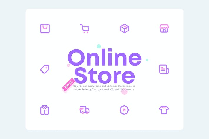 Thumbnail for UICON 2.0 - Online Store, Shopping Icons Set