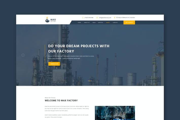 Thumbnail for Factory & Industry PSD Template
