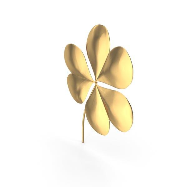 Golden Clover St Patrick Symbol