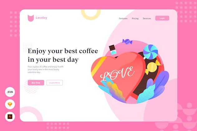 Enjoy Coffee - Website Header - Illustration