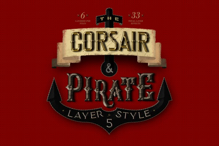 Thumbnail for Corsair & Pirates Photoshop Layer Styles FX