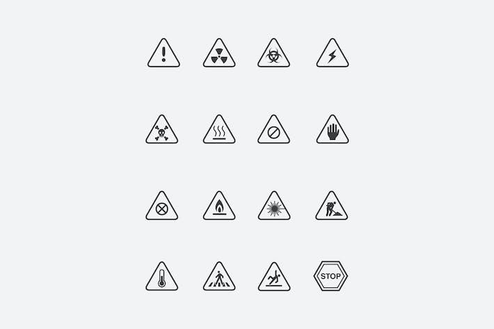 Thumbnail for 16 Warnzeichen und Icons