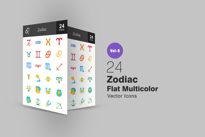 Thumbnail for Zodiac Flat Multicolor Icons