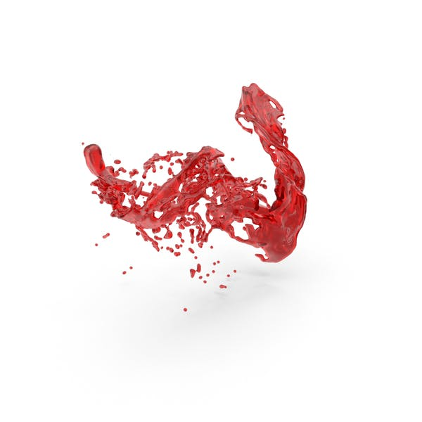 Red Liquid Splash Effect