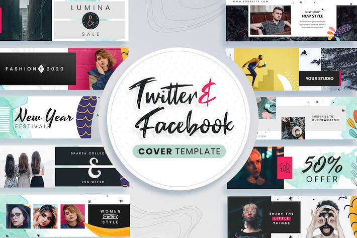 Thumbnail for Facebook & Twitter Cover Templates