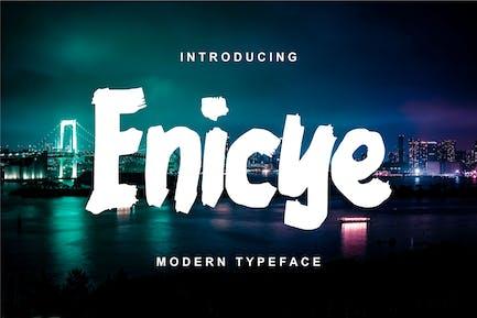 Enicye   Modern Typeface Font