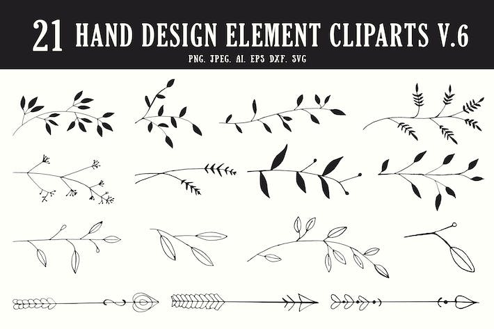 Thumbnail for 20+ Hand Design Element Cliparts Ver. 6