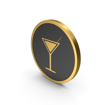 Gold Icon Cocktail Glass