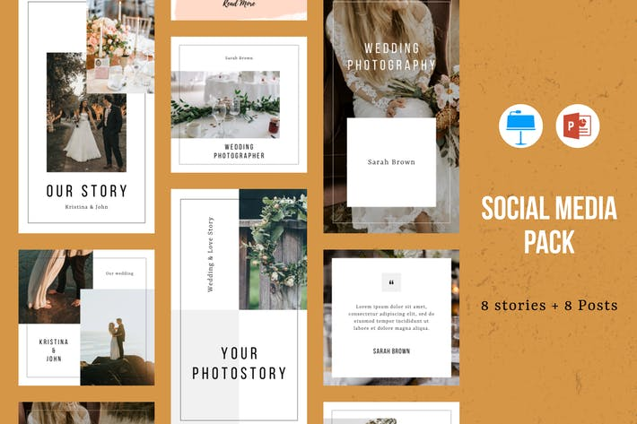 Thumbnail for Instagram Powerpoint and Keynote Template