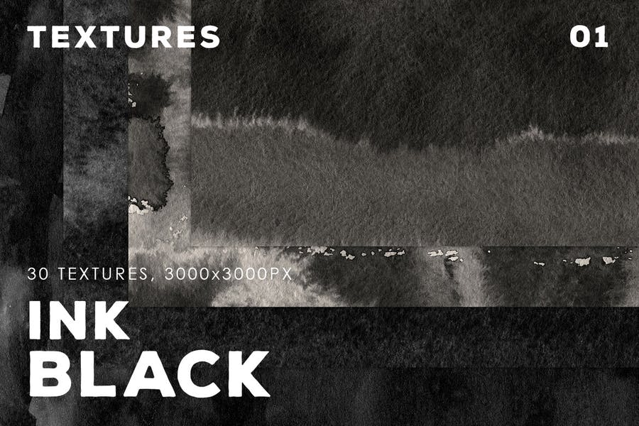 Black Ink Textures   01