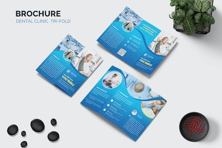 Dental Clinic Advertising Trifold Brochure