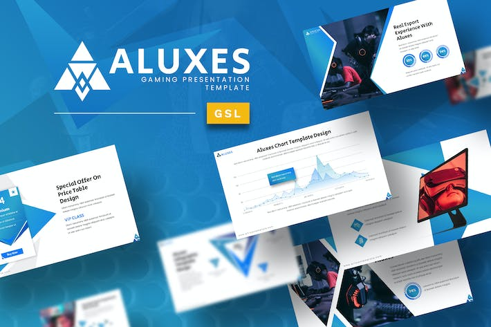 Thumbnail for Aluxes Gaming Google Slides Template