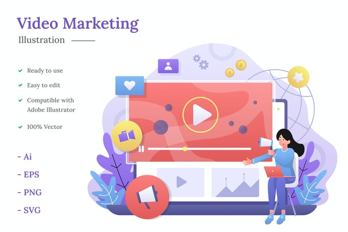 Thumbnail for Видео маркетинг Иллюстрация