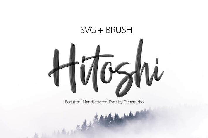 Cover Image For HITOSHI - SVG Font