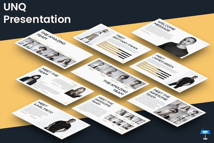 Thumbnail for UNQ - Keynote Presentation Template
