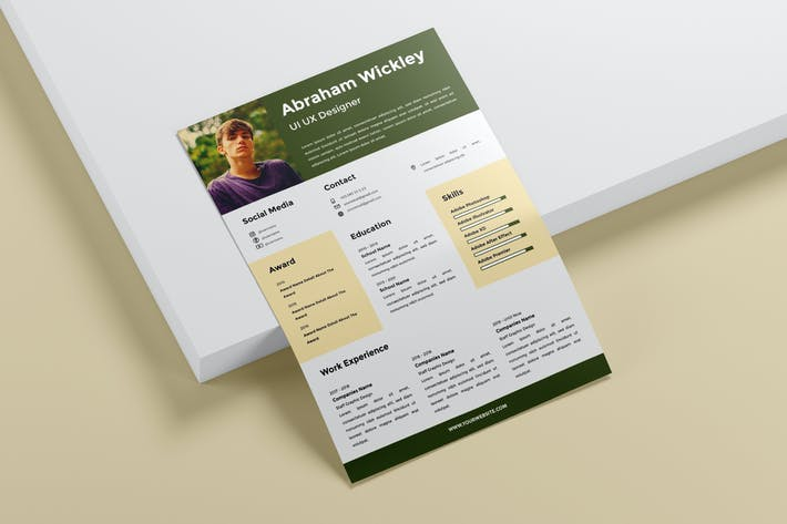 Thumbnail for UI UX Resume Template