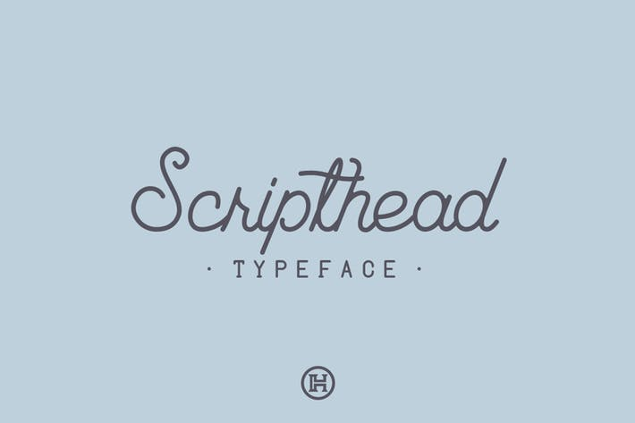 Thumbnail for Scripthead Typeface