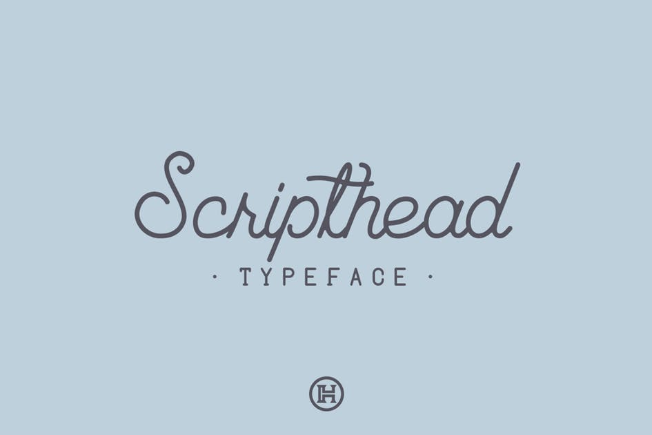 Download Scripthead Typeface by Mihis_Design