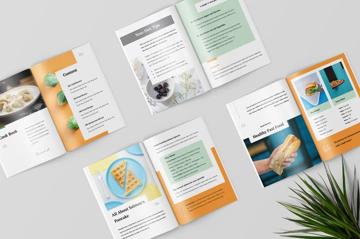 Thumbnail for Cooking Book Magazine Template