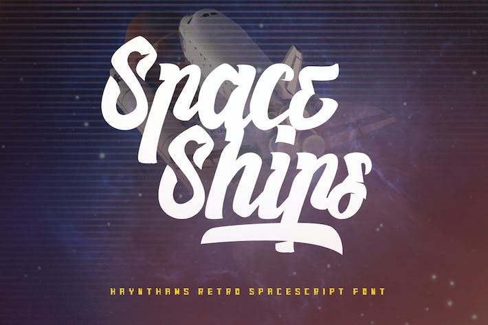 Thumbnail for Haynthams Spacescript 2 in 1 font