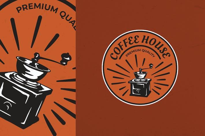 Thumbnail for Manual Brewed Coffee Logo Badge