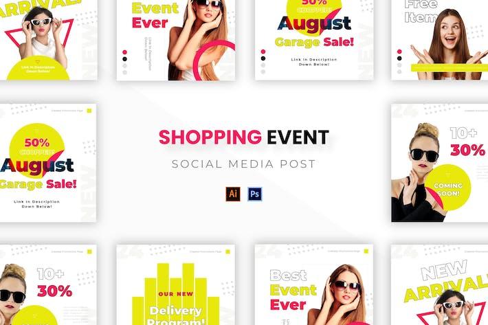 Shopping-Veranstaltung Socmed Post