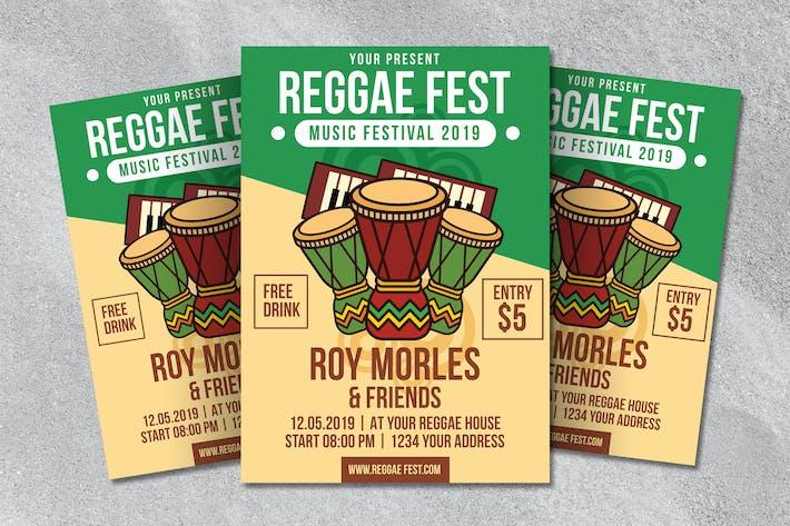 Thumbnail for Reggae Fest Flyer Vorlage