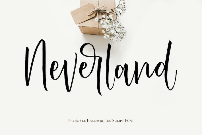 Thumbnail for Fuente de escritura manuscrita de Neverland
