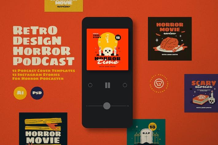 Thumbnail for Retro Horror Podcast Pack