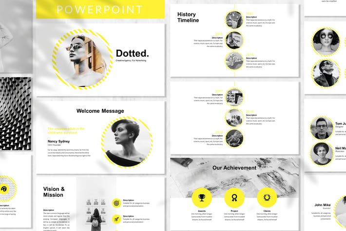 Thumbnail for Dotted - Business Powerpoint Template