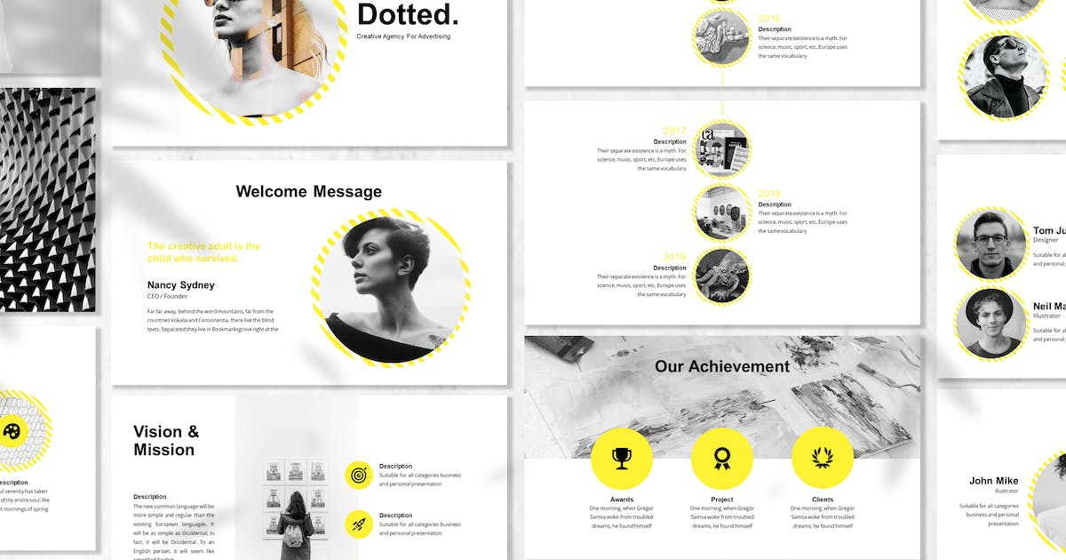 Download Dotted - Business Powerpoint Template by designesto
