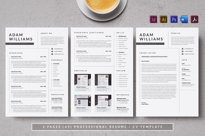 Thumbnail for Minimal & Simple Resume/CV AN