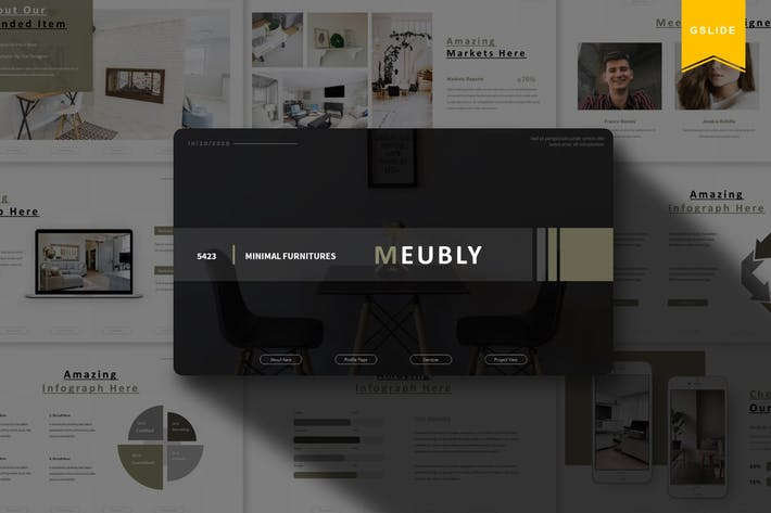 Thumbnail for Meubly | Google Slides Template