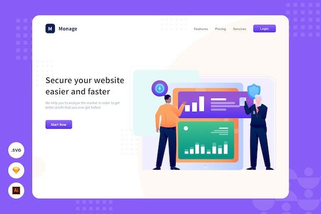 Website Security - Website Header - Illustration