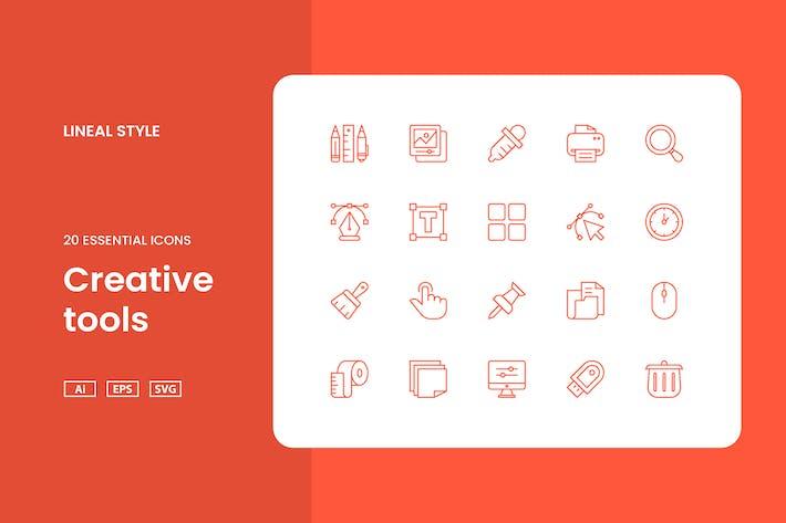 Thumbnail for Creative Tools - Icon Set