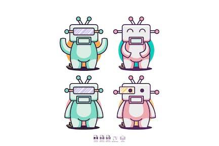 robot fun set logo