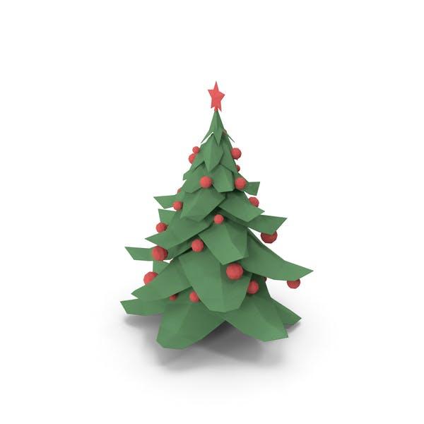 Рождественская елка Низкий Поли