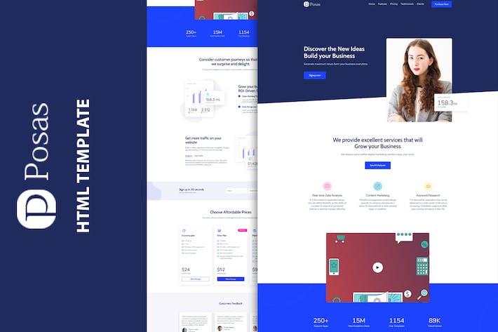 Posas - Saas Software Landing Page Template