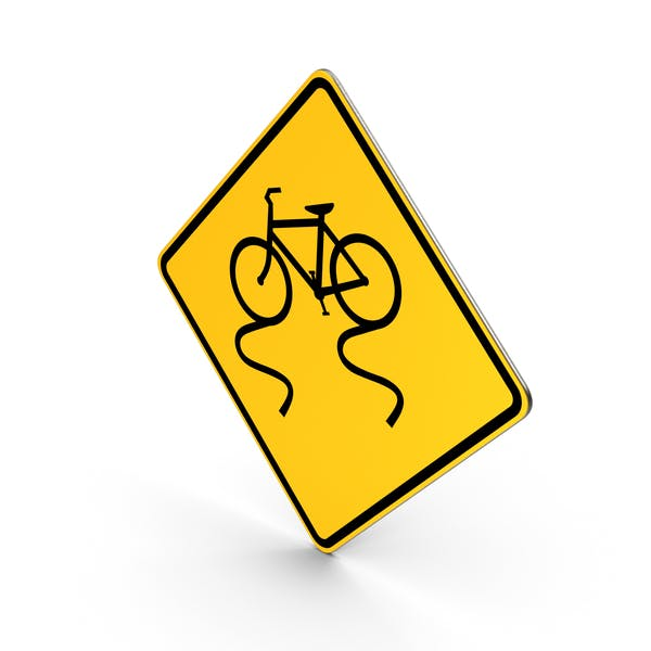 Bicycle Slippery When Wet Road Sign
