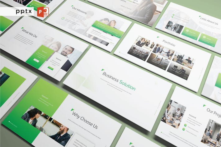 Thumbnail for BUSINESS SOLUTIONS - Powerpoint V248