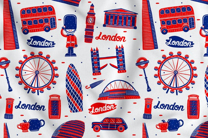 Thumbnail for London Seamless Pattern