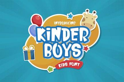 Kinder Boys - Playful Font