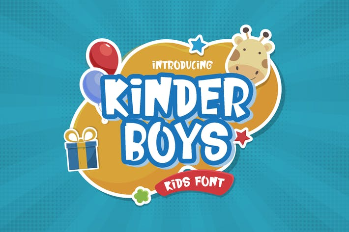 Thumbnail for Kinder Boys - Playful Font