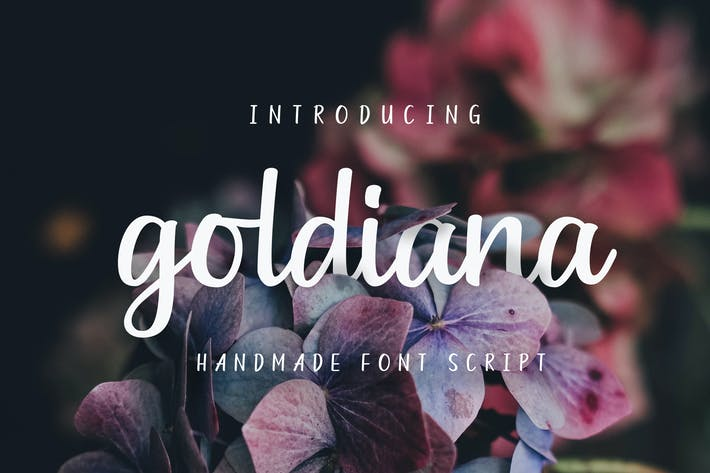 Thumbnail for Goldiana - Font Script