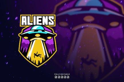 Alien Space Ufo Logo