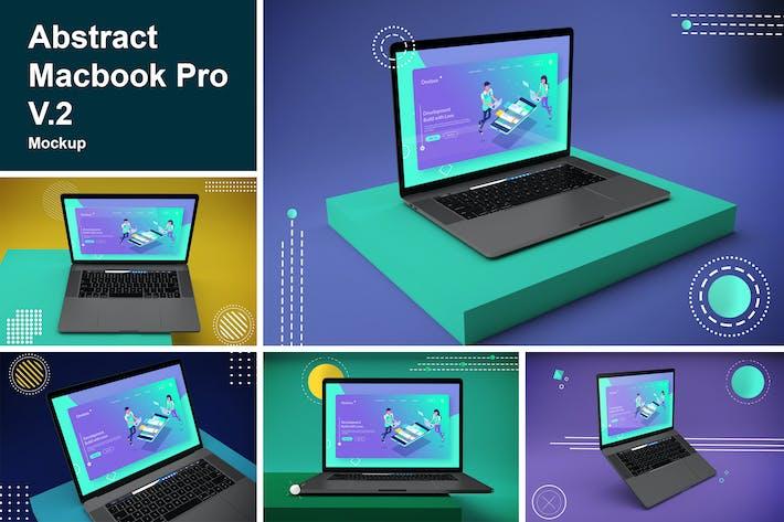 Thumbnail for Abstract Macbook Pro Mockup V.2